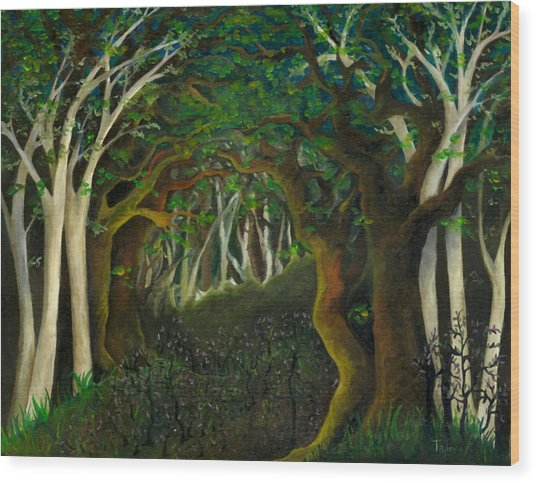 Hobbit Woods Wood Print