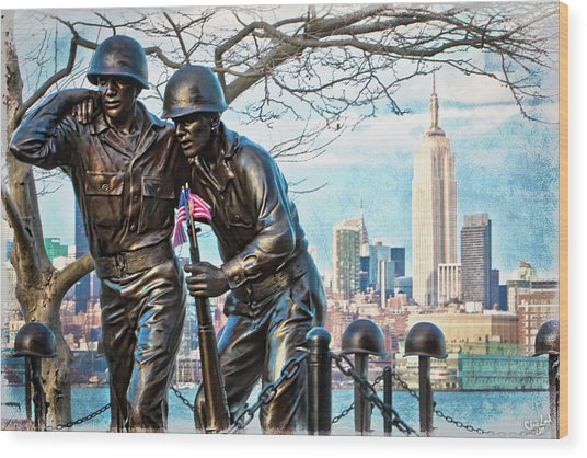 Hoboken War Memorial Wood Print