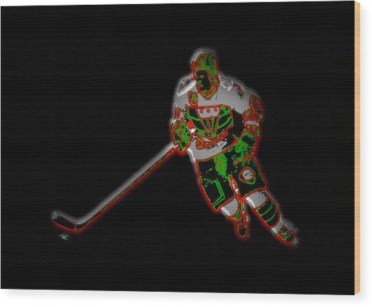 Hockey Player Wood Print