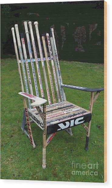 Hockey Stick Chair Wood Print