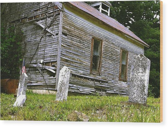Hocking Hills Church Wood Print