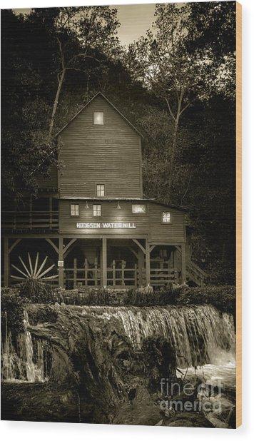 Hodgson Gristmill Wood Print