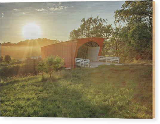 Hogback Covered Bridge 2 Wood Print