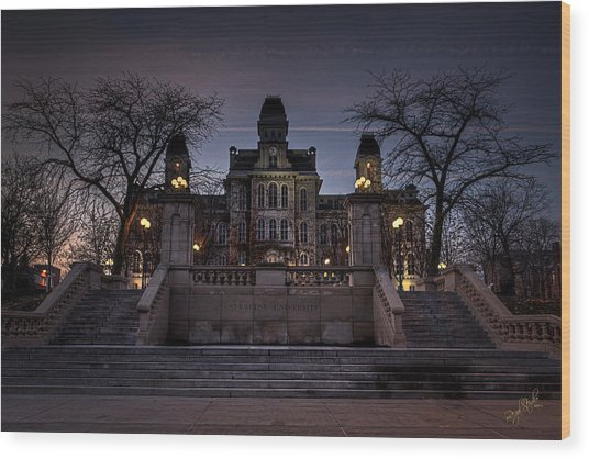 Hogwarts - Hall Of Languages Wood Print