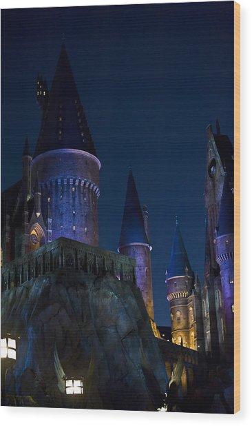 Hogwarts Wood Print by Sarita Rampersad