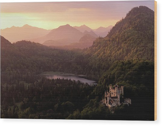 Hohenschwangau Castle Wood Print