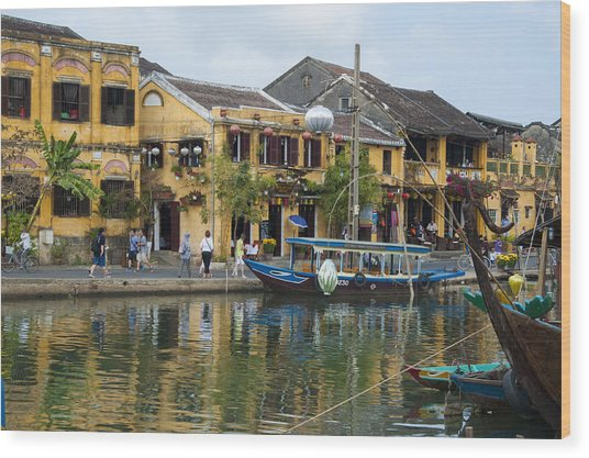 Hoi An On The River Wood Print