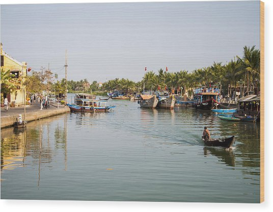 Hoi An River Wood Print