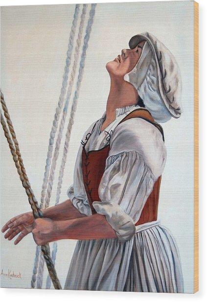 Hoisting Sails Wood Print