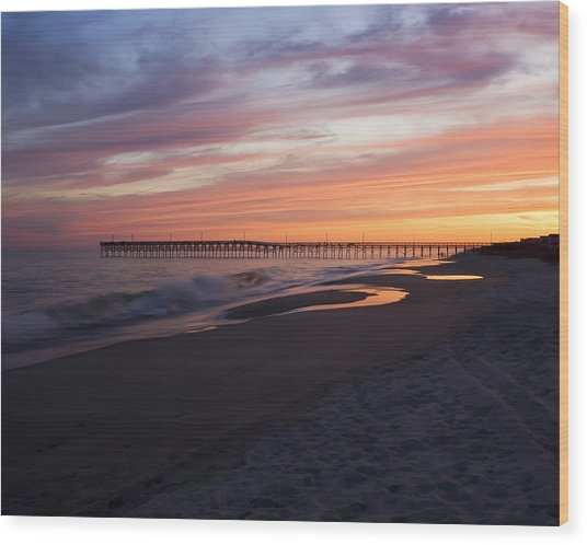 Holden Beach Pier Wood Print