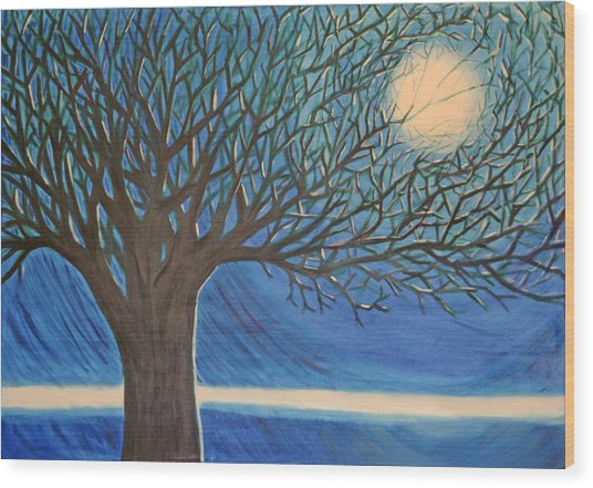 Holding Moon Memories Wood Print