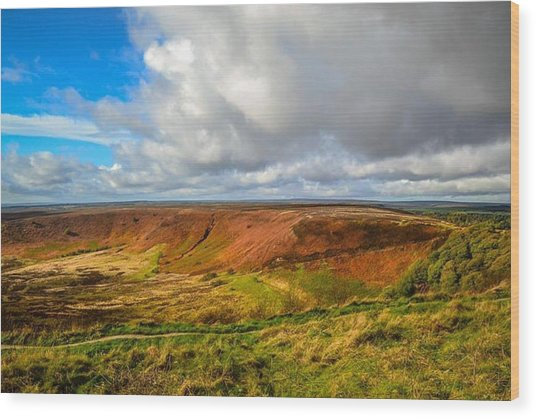 Hole Of Horcum, North York Mores, Yorkshire, United Kingdom Wood Print