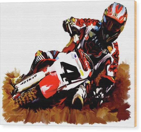 Hole Shot Ricky Carmichael Wood Print