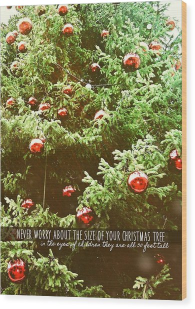 Holiday Garnish Quote Wood Print by JAMART Photography