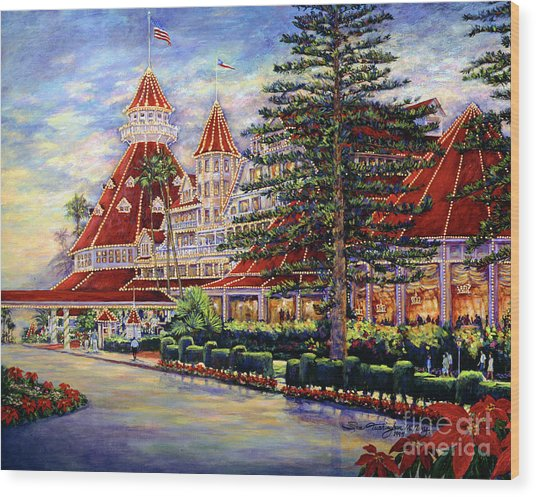 Holiday Hotel 2 Wood Print