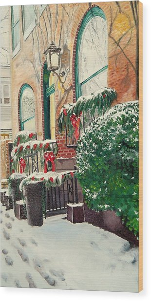 Holiday In The City Wood Print by John Schuller