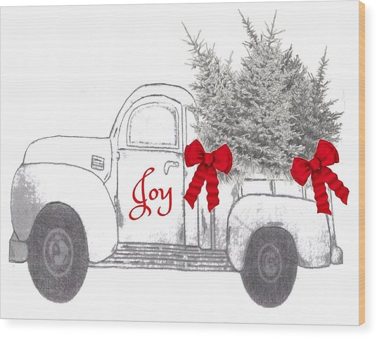 Holiday Joy Chesilhurst Farm Wood Print
