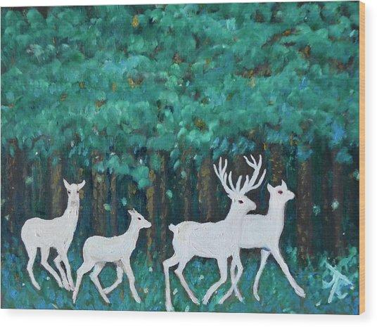Holiday Season Dance Wood Print