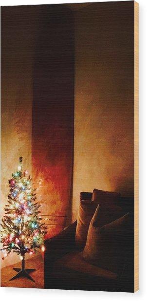 Holiday Surfboard Wood Print