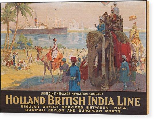 Holland British India Cruising Line, Tourist Steamship Wood Print