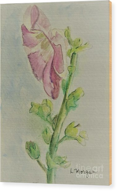 Hollyhock The Harbinger Of Summer Wood Print
