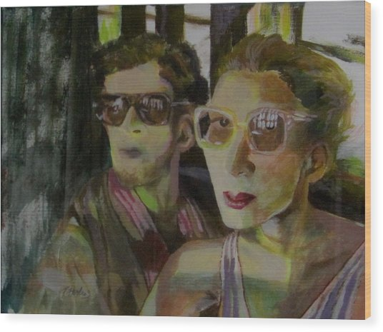 Hollywood Couple Wood Print by Penfield Hondros