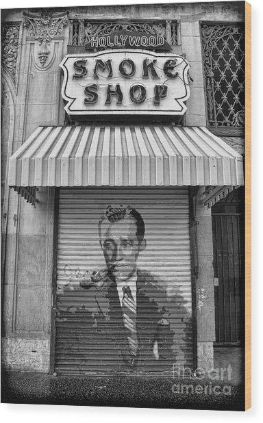 Hollywood Smoke Shop Wood Print