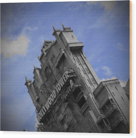 Hollywood Studio's Tower Of Terror Wood Print