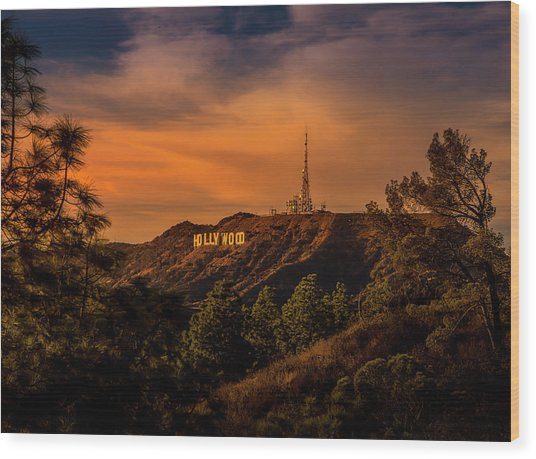 Hollywood Sunset Wood Print