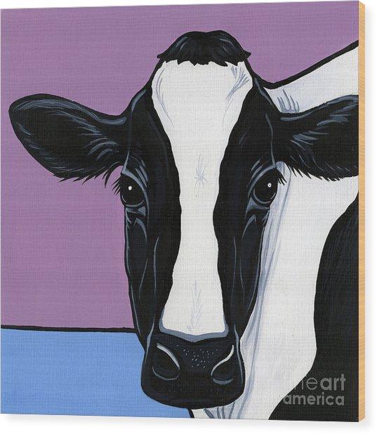 Holstein Wood Print
