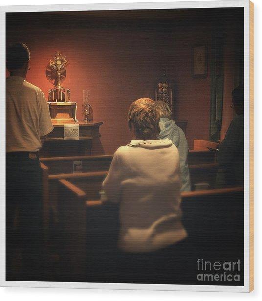 Holy Adoration Altar Wood Print