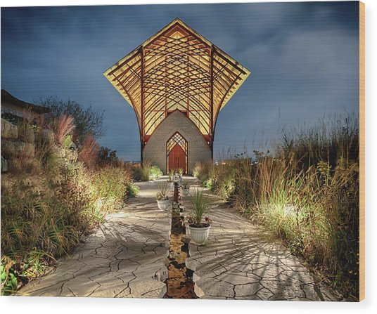 Holy Family Shrine Wood Print