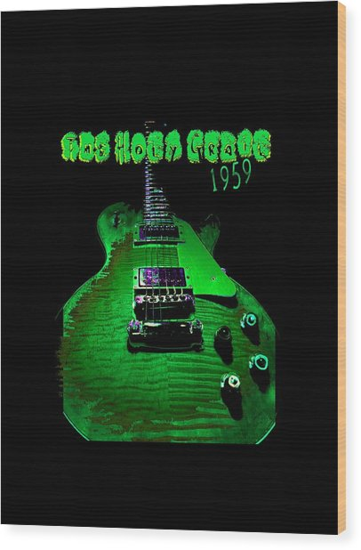 Wood Print featuring the photograph Holy Grail 1959 Retro Relic Guitar by Guitar Wacky