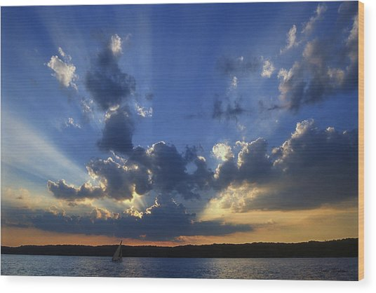 Holy Grail - Lake Geneva Wisconsin Wood Print