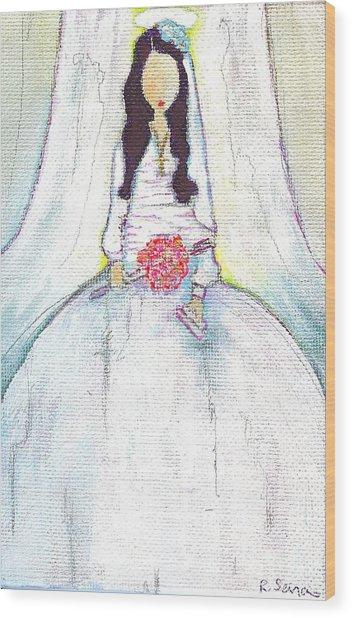 Holy Mama Wood Print