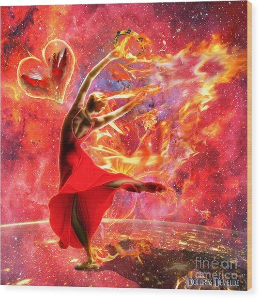 Holy Spirit Fire Wood Print