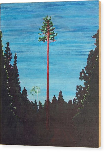 Homage To Emily Carr Wood Print
