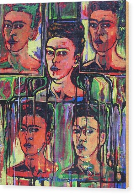 Homage To Frida Kahlo Wood Print