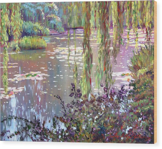 Homage To Monet Wood Print by David Lloyd Glover