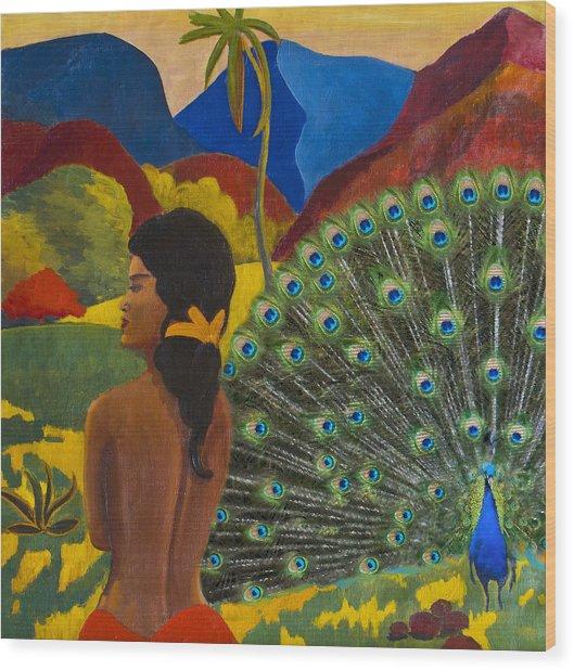 Homage To Paul Gauguin Wood Print
