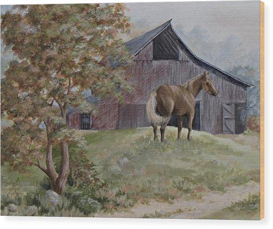 Home At Last Wood Print by Kathleen Keller