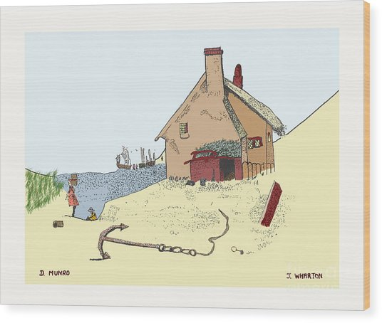 Home By The Sea Wood Print