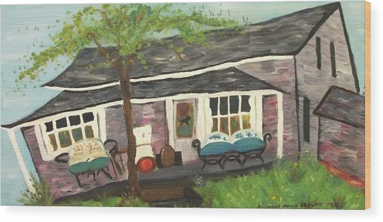 Home In Feeding Hills Mass Part 1 Wood Print by Suzanne  Marie Leclair