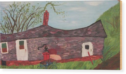 Home In Feeding Hills Part 2 Wood Print by Suzanne  Marie Leclair