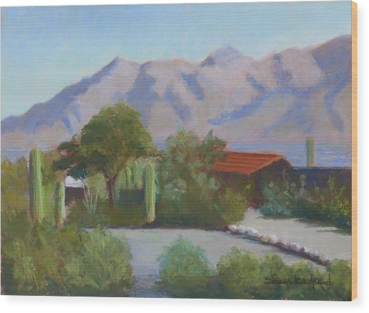Home In The Catalinas Wood Print