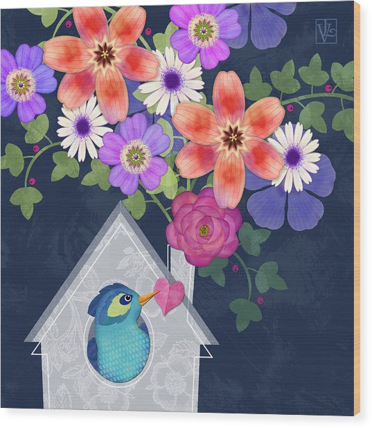 Home Is Where You Bloom Wood Print