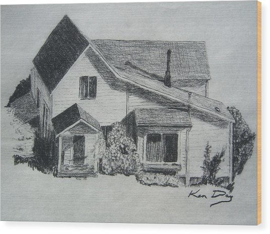 Home Wood Print by Ken Day