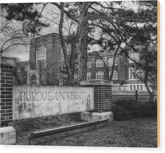 Home Of The Boilers Wood Print