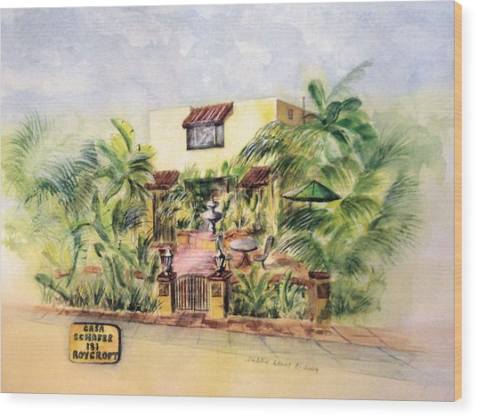 Home On Belmont Shore Wood Print