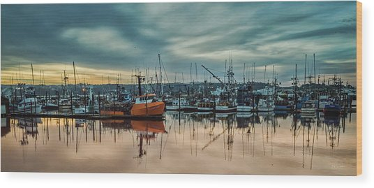 Home Port Wood Print